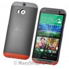 HTC CUSTODIA ORIGINALE DOUBLE DIP COVER HARD CASE INTERCAMBIABILE ONE MINI 2 GREY GRIGIO NEW NUOVO SU WWW.MAXYSHOPPOWER.COM