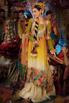 Pakistani-Latest-Multi-Color-Bridal-Mehndi-Dresses-2013-1.jpg 479×720 pixels