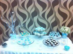 Table dessert! #baptism #blue
