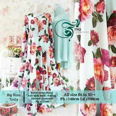 Gambar gamis cantik big rose tosca 1024x1024