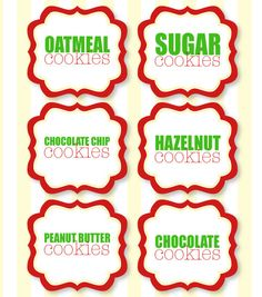 Christmas PRINTABLE Party Food Labels by Love The by lovetheday, $10.00