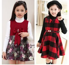 Cheap kids urban clothing, Buy Quality kids snow clothing directly from China clothing for kids Suppliers: Sale Fashion Autumn and winter Girls formal dress woolen female princess one-piece dress prom dress children Free shippi