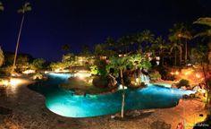 Hanalei Bay Resort Pool, Kawai by Chuck Ashton
