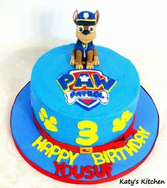 Custom cakes, cookies, and treats in Cedar Rapids, Iowa. 2 Year Old Birthday Party, 2nd Birthday Party Themes, Boy Birthday Parties, Birthday Party Decorations, Birthday Cakes, 3rd Birthday, Paw Patrol Chase Cake, Paw Patrol Birthday Cake, Paw Patrol Party