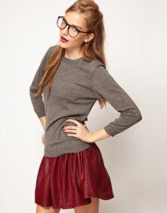 glasses + red lips
