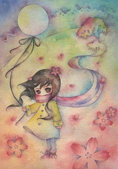 A Juri Ueda é uma americana que mora no Japão e tem maozinhas de fada. Faz pinturas maravilhosas com aquarela. A artista ama nuvens, monstros marinhos, robôs, bonecas, coelhos e gatinhos. Ela posta as pinturas dela no seu portfolio e no flickr e a maioria são ninfas. Lindo demais! *_* Pra ver mais: • Portofolio Juriueda.com • Flickr JuriU
