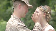 Marine Surprises his sister on her wedding day...... there is something really special about the love between Brothers and Sisters