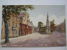 Balliol College, Oxford United Kingdom, Oxford City, Winter Games, Dream City, Vintage Postcards, England, Music, Angels