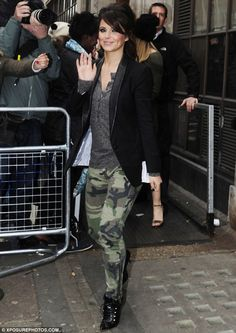 Cheryl Cole skintight camouflage trousers