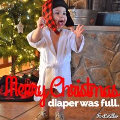 Cousin Eddie from National Lampoon's Christmas Vacation toddler photo photography Christmas card holiday