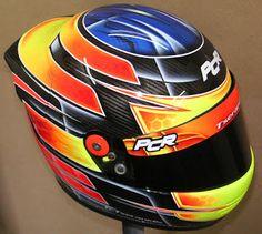 Hand Painted Kart Racing Helmet #129 ~ Helmets4Fun - Hand Painted Helmets