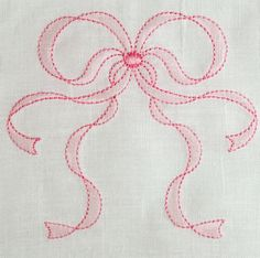 Beautiful shadow embroidered bow in three sizes to adorn your most precious projects. Sizes small, medium and large range from approximately 2 inches to 5 inches tall.  Printable Instructions for shadow embroidery in the hoop are included in the multi-formatted download along with a PDF of the design with stitch sequence.  Embroidery formats included in the download are the following:  ART-DST-EXP-HUS-PES-PCS-JEF-SHV-VP3-XXX.