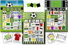 Soccer Party Fun Bingo!!! LETTERS AND DESIGN DO NOT MATTER. YOU CAN PLAY WITH ALL 30 OF THESE CARDS AT THE SAME TIME With this listing you will receive (3) PDF files containing 30 printable 5x7 Bingo cards. Two cards on (1) 8.5x11 page. (No two cards are alike!) 10 cards have GOALS, 10