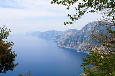 """Walk to your heart's content on paths on the Amalfi coast! This one, the """"Sentiero degli Dei"""" (or """"God's Trail""""), is the most famous. It links the towns of Agerola, Praiano and Positano, all at an average height of about 1,650 feet above sea level. Result: stunning views, like this one!"""