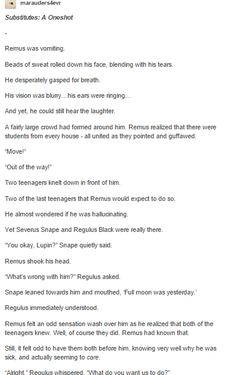 Remus, Snape and Regulus part 1