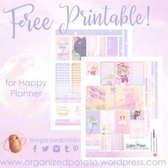 FREE planner printable! Sailor moon! (it's more like a planner kit than a printable...) the pastel colors are so dreamy! for the happy planner. #planner #plannerprintable #freeprintables #sailormoon #happyplanner #plannercommunity #plannerideas #weeklyspread #bujo #journaling
