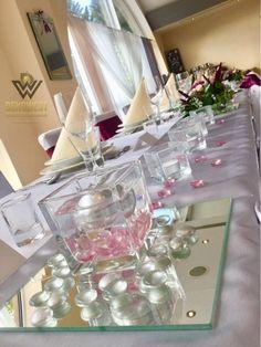 Burgundy And Gold, Art Deco Fashion, Table Decorations, Mirror, Home Decor, Decoration Home, Room Decor, Mirrors, Home Interior Design