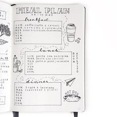 "Bullet Journal® with Clarissa @my_journaling_corner. ""The Meal Plan log helps me keep track of meals, and encourages me to cook more often and not to skip meals."""