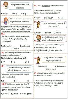 2 Learn Turkish, Turkish Language, Karma, Worksheets, Education, Learning, School, Kids, Languages