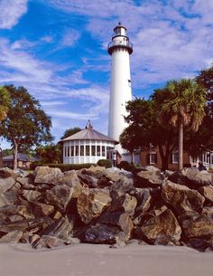 St. Simons Island Lighthouse in Georgia, USA