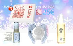 Gift Box 3 με Fast Slim. Βιολογικός Ορός Σώματος για αδυνάτισμα, σύσφιξη και ραγάδες 100ml, Fouka Angel Skin Άνυδρη Κρέμα Αβοκάντο 50ml και Sensitive Eyes 100% Serum oil free - Gift Box