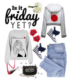 """""""Yes, It's Friday!"""" by rita257 ❤ liked on Polyvore featuring WALL, Puma, Tory Burch, Essie, Christian Louboutin and Lapcos"""