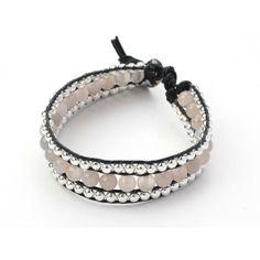 Bracelet shamballa agate grise. Grey agate shamballa bracelet. $16.41 #bracelet #jewelry #shamballa