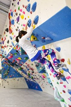 Learning to Climb at the Grotto Climbing Gym San Diego.