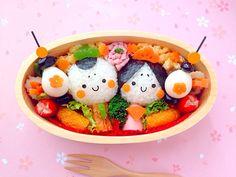 ザッキー's dish photo キャラ弁 ひな祭り | http://snapdish.co #SnapDish #レシピ #ひな祭りお寿司グランプリ2015 #お弁当 #キャラ弁