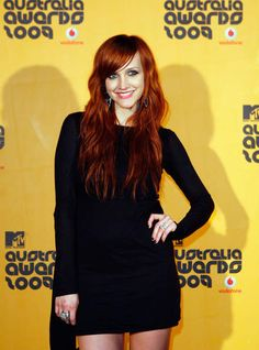 Ashlee Simpson with red hair