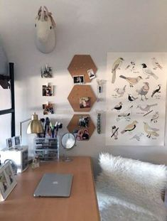 Fantastic Home Decor Crafting Ideas For Dorm Room 01 College Dorm Decorations Crafting DECOR Dorm fantastic Home Ideas Room College Dorm Desk, Dorm Room Desk, Uni Dorm, Dorm Walls, Dorm Desk Decor, Bedroom Decor, Bedroom Ideas, Dorm Desk Organization, University Rooms