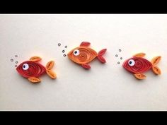 Great quilling video tutorial! Shows how to make paper quilled goldfish! Fun paper craft for a card or cute wall art!