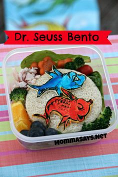 Dr. Seuss Bento One fish, two fish, red fish, blue fish