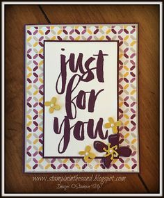 Stampin' Up! Stampin' in the Sand: Sneak Peek: Botanicals For You and Botanical Builder Framelits