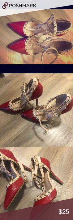 Valentino knock off heels Great condition; 4 inch heels; they are too high for me. Wild Diva Shoes Heels