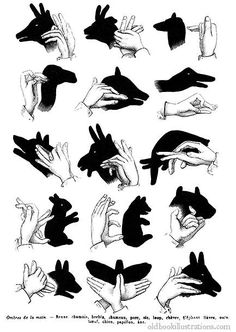 Hand shadow puppetry » Old Book Illustrations: picture was taken from the Dictionnaire encyclopédique Trousset, also known as the Trousset encyclopedia, Paris, 1886 - 1891.