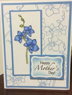 Orchids Mother's Card