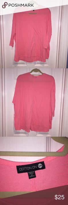 Cotton On shirt Cotton On pink flowy shirt size S/M. Only worn a few times & in great condition. Cotton On Tops Tees - Long Sleeve