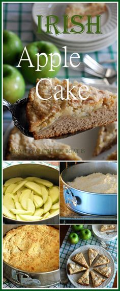 Irish Apple Cake for St. Patrick's Day or with your morning coffee or afternoon cuppa! | homeiswheretheboatis.net #StPatricksDay #recipe #cake