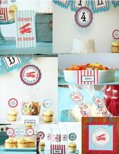 Vintage airplane birthday COMPLETE PARTY by Bebopsandlemondrops