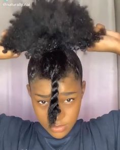 Black Girl Updo Hairstyles, Natural Black Hairstyles, Natural Hair Puff, Natural Hair Bun Styles, Hair Ponytail Styles, Protective Hairstyles For Natural Hair, Natural Hair Tutorials, Natural Hair Styles For Black Women, Curly Hair Styles