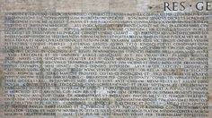 The trajan inscription capitalis monumentalis rome a d - Res gestae divi augusti ...