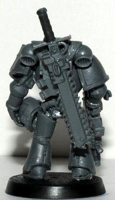 Drilled Helmet, Sword Conversion, Ultramarines