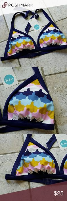 Boden swim top New with tags. Size 12. Beautiful bikini top. Boden Swim