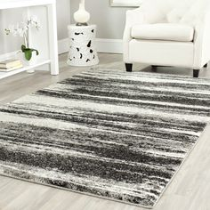 Safavieh RET2693-8479 Retro Area Rug, Dark Grey / Light Grey | ATG Stores