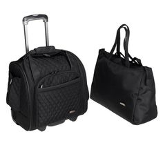Travelon Lugggage Travel Suitcase Rolling Wheeled Carry On Case 2 Piece Bag Lady
