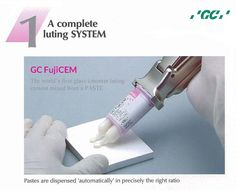 GC FujiCEM - Resin Reinforced Glass Ionomer Luting Cement  The GC #FujiCEM luting system consists of replaceable ' double -barrelled' paste cartridges - called Paste Pak  Cartridge- that fit into a special Paste Pak Dispenser.  For more info Call us 1800 425 3132.