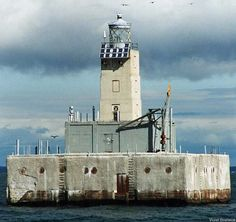 Lansing Shoal Light: Naubinway, Michigan (UP). Date Built: 1928, accessible by boat only. shared via #lighthouseboatnerd.com
