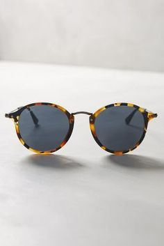 Ray-Ban Round Icon Sunglasses Brown Motif One Size Eyewear #anthrofave