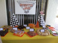 Monster Jam Birthday Party Ideas | Photo 30 of 63 | Catch My Party